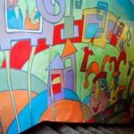Роспись лестничных пролётов в гимназии. Ижевск