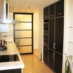 Квартира 3-комнатная. В современном минималистическом стиле.Кухня.