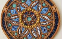 Геометрический рисунок. Шамот, фаянс, глина, смальта.