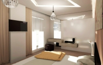4-х комнатная. квартира в стиле хайтек. Спальня