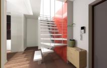 Двухуровневая квартира в городском стиле.