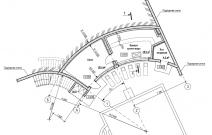 Комплекс бытового обслуживания населения «Банно-оздоровительный комплекс с благоустроенной зоной отдыха «Аквапарк» по ул. Гастелло в г. Воткинске. План 1-го этажа