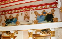 Багеты, фрески в стиле роккоко. Магазин «Рубин», Ижевск.