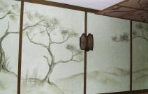 Объект № 7. Роспись стены и потолка маслом. Фрагмент стены.