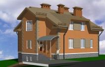 Проект коттеджа в Устиновском районе Ижевска