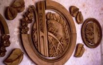 Настенное панно, композиция в круге